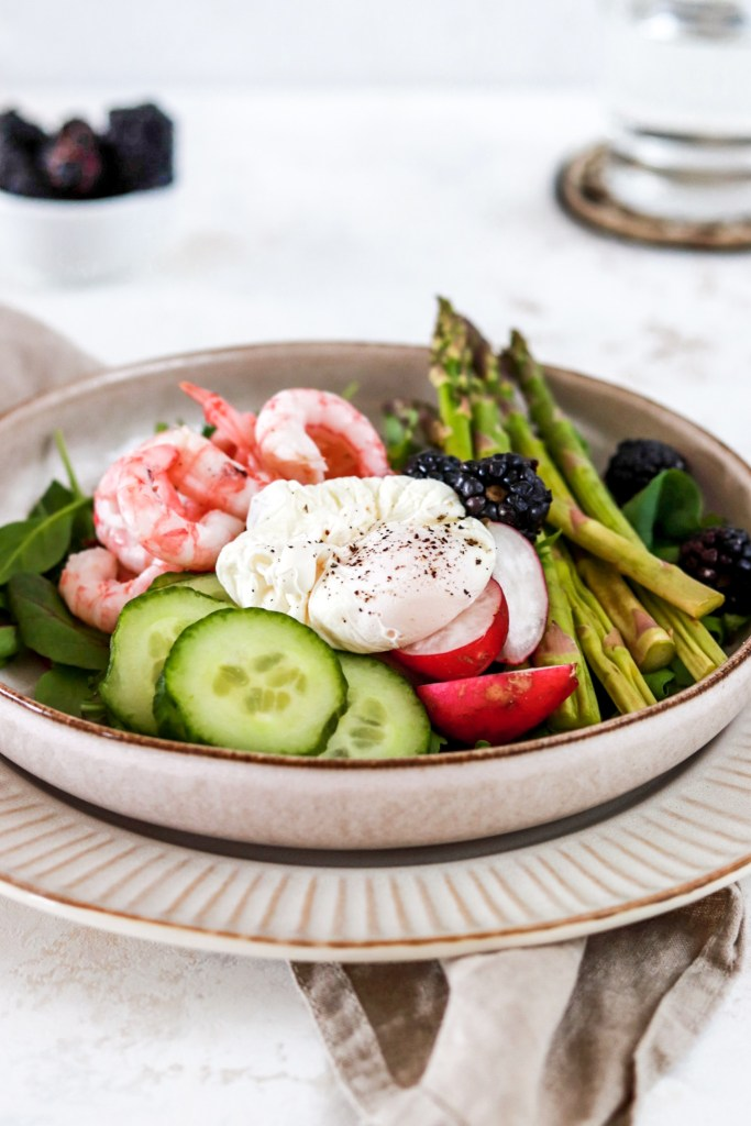 Shrimp Salad (Gluten, Grain Free & Low Carb) From Front