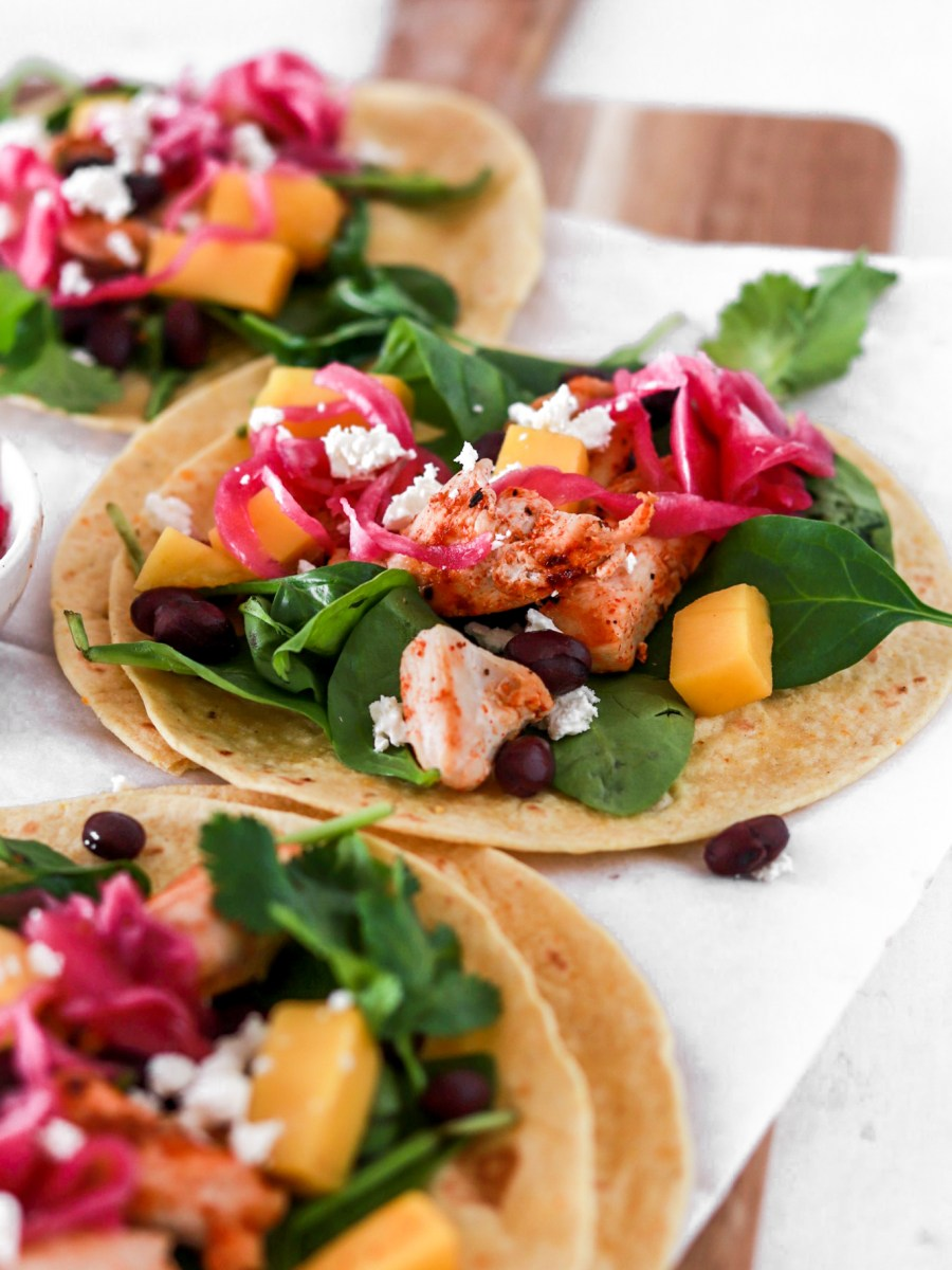 Spicy Chicken Tacos (Gluten Free) From Front