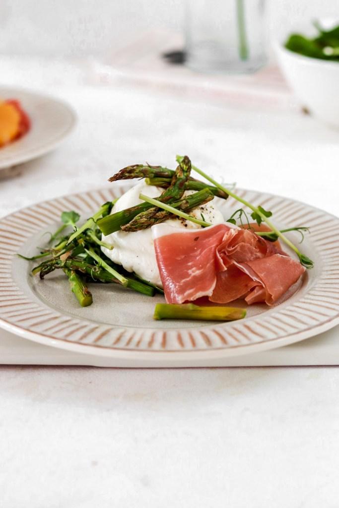Asparagus, Prosciutto & Mozzarella (Gluten, Grain Free & Low Carb) From Front