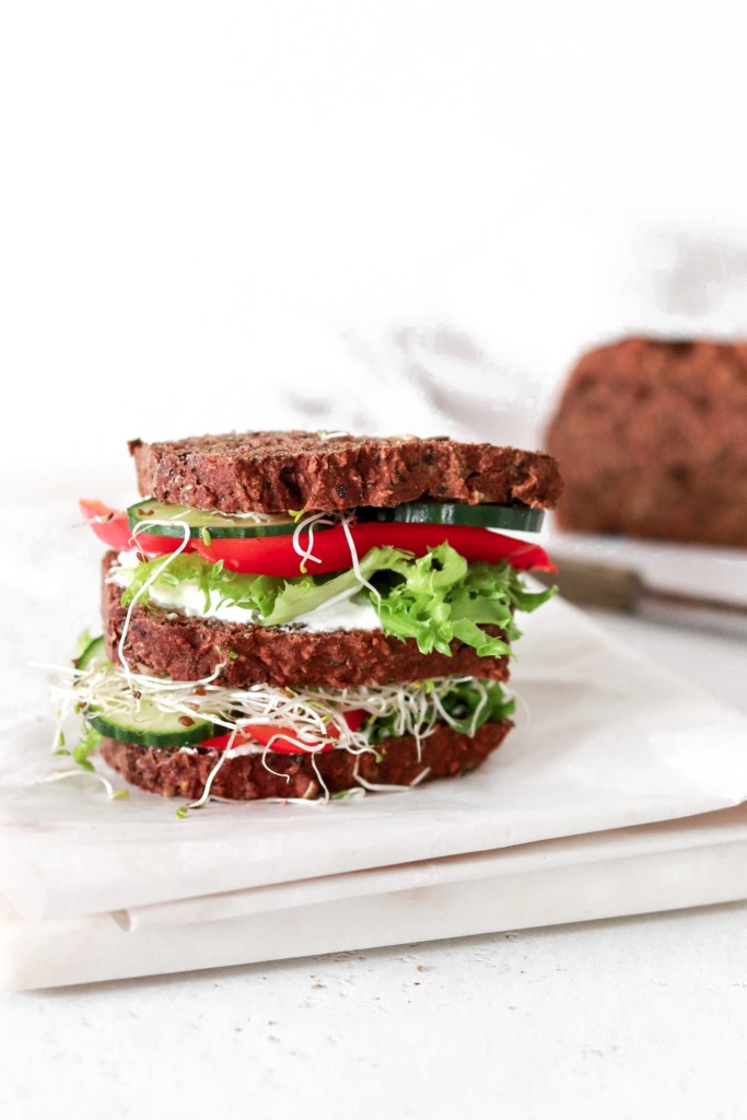 Cream Cheese & Vegetable Sandwich (Vegetarian & Gluten Free) From The Side