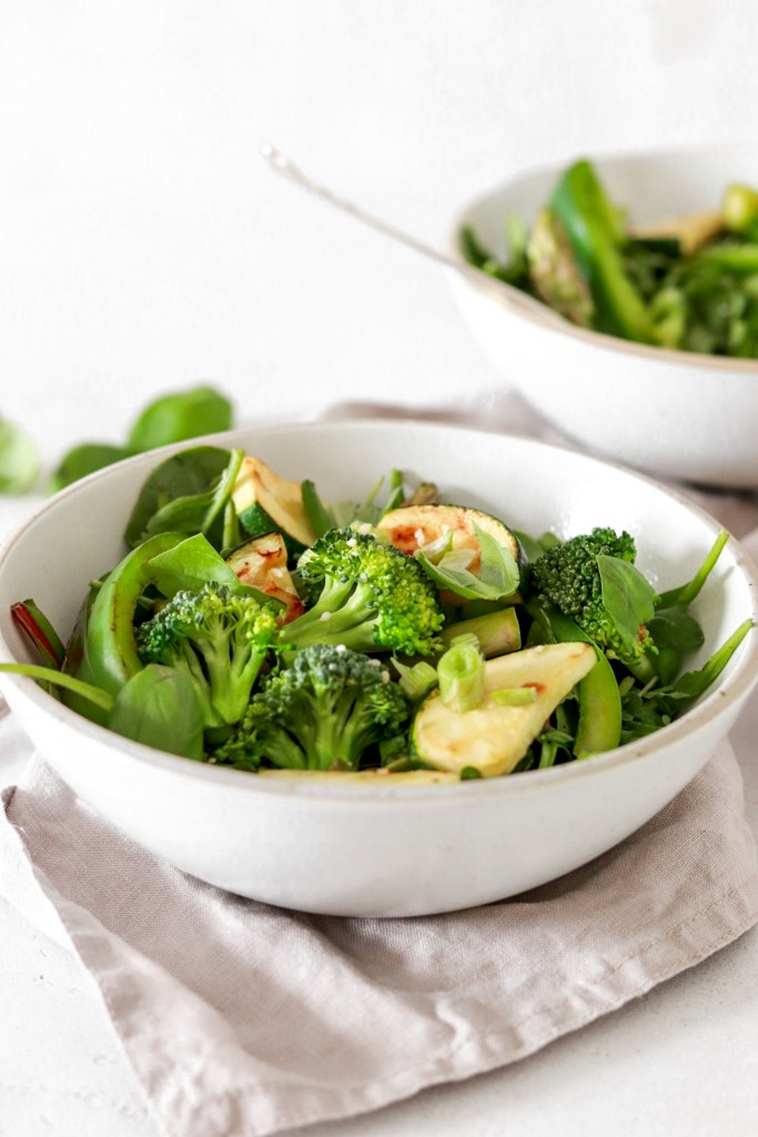 Green Goddess Salad (Vegan, Gluten, Grain Free & Low Carb) From Front Close Up