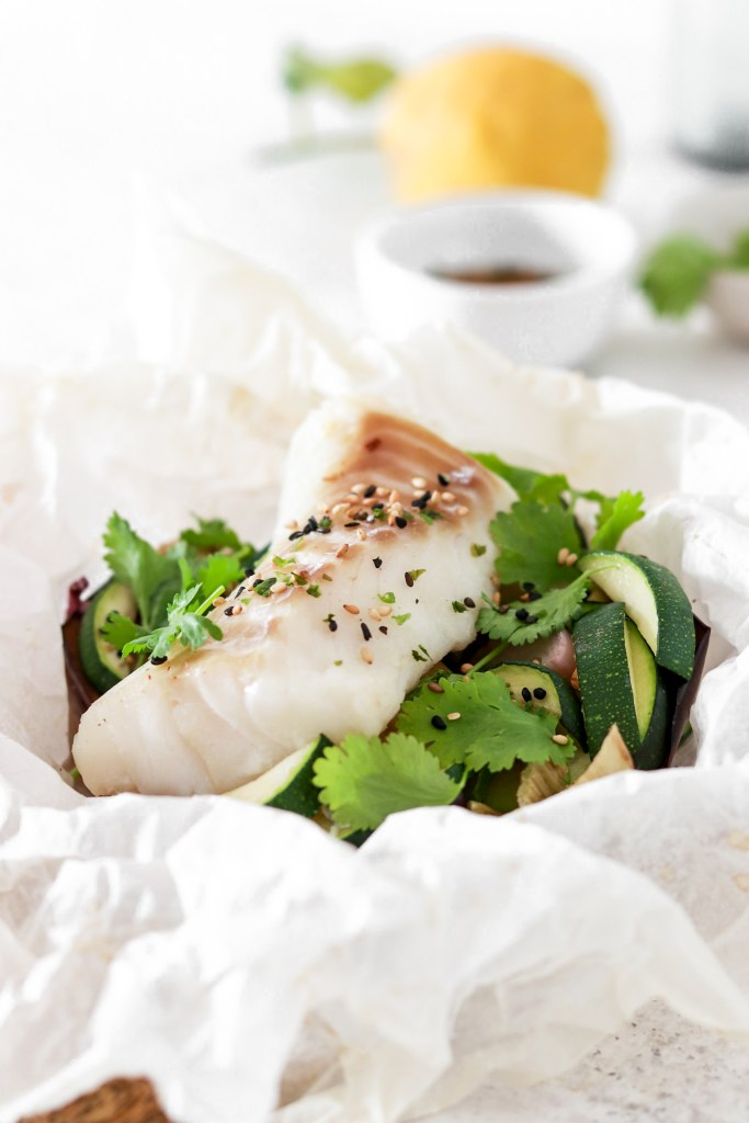Asian Style Fish Package (Gluten, Grain Free & Low Carb) From Front Close Up
