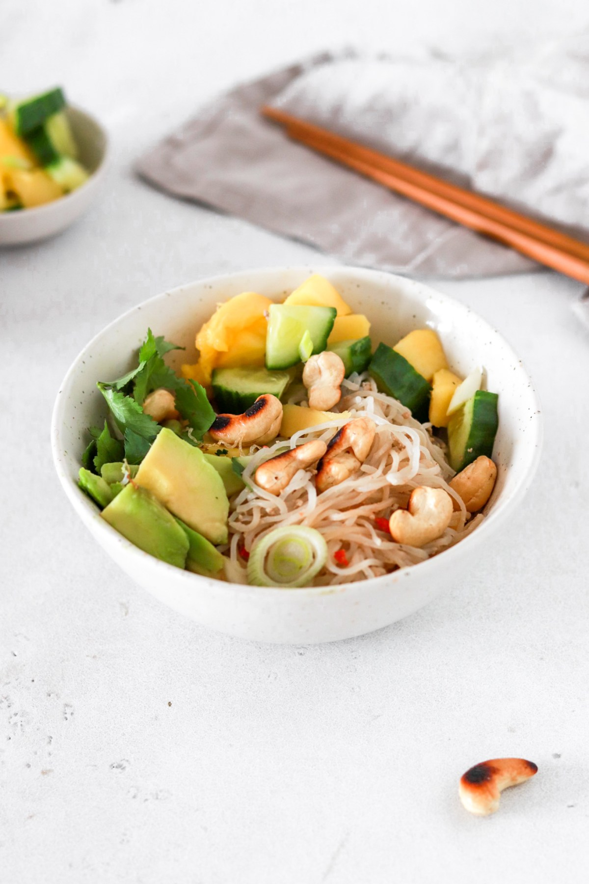 Five Minute Spicy Tahini Shirataki Noodles (Vegan, Gluten, Grain Free & Low Carb) From Front
