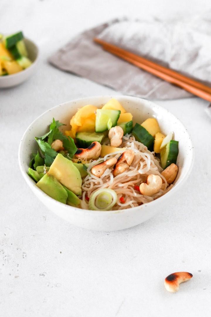 Five Minute Spicy Tahini Shirataki Noodles (Vegan, Gluten, Grain Free & Low Carb)
