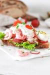 Swedish Shrimp Toast From Front