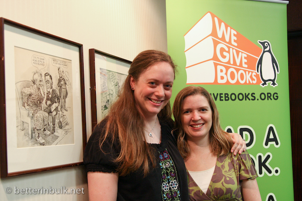 Safire and Lolli at We Give Books