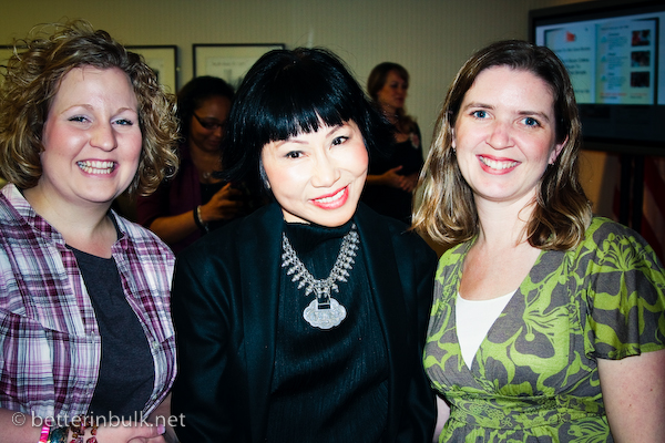 We give books - MomBabe, Amy Tan, and Lolli