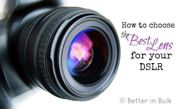 how to choose the best dslr lenses