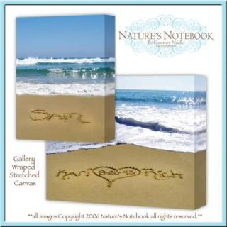 natures notebook stretched canvas