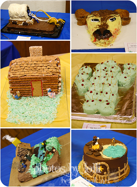 "blue and gold banquet ""wild west"" cakes"