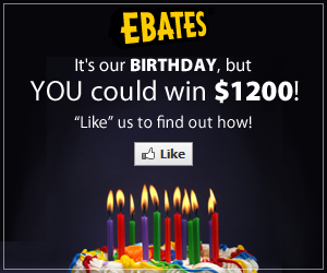 Ebates $1200 Birthday Bash