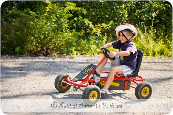 pedal cars at Jellstone Park