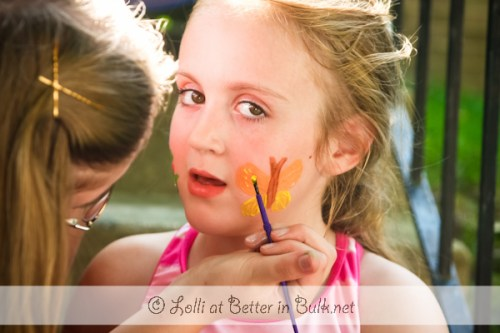 Ovaltine party - face painting