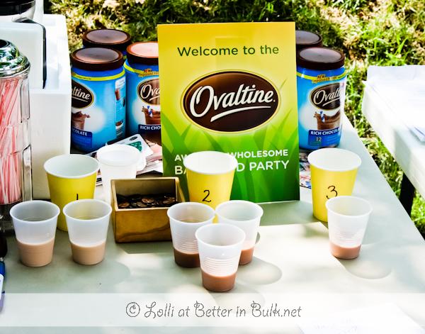 Ovaltine party - taste test