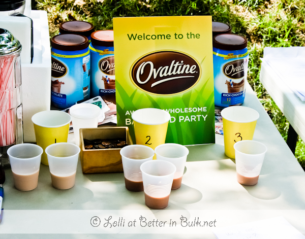 Ovaltine party - taste test