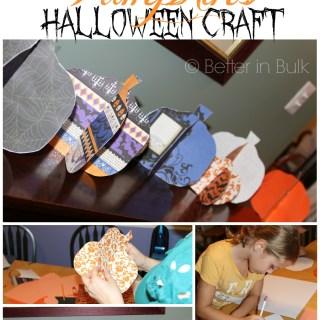 Easy 3D Paper Pumpkins Halloween Craft