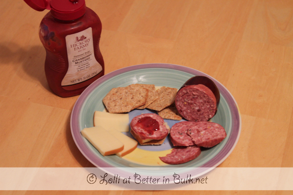 Hickory Farms cheese and sausage