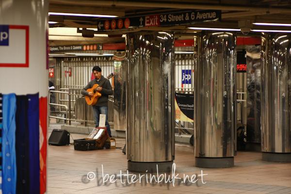 Subway entertainment NYC