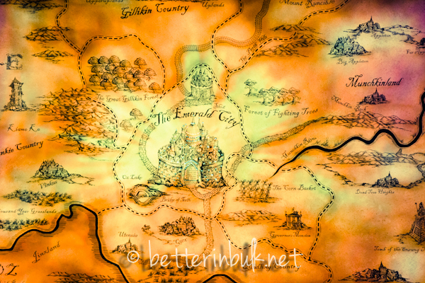 Map of OZ - Wicked at Gershwin Theater