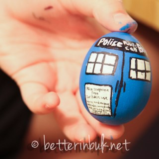 Doctor Who Tardis Easter Egg – Wordless Wednesday