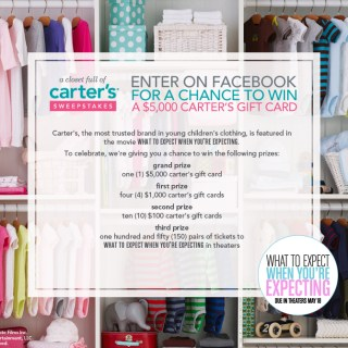 What To Expect When You're Expecting – Closet Full of Carter's Sweepstakes