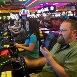 Dave and Buster's YesVide blogger trip