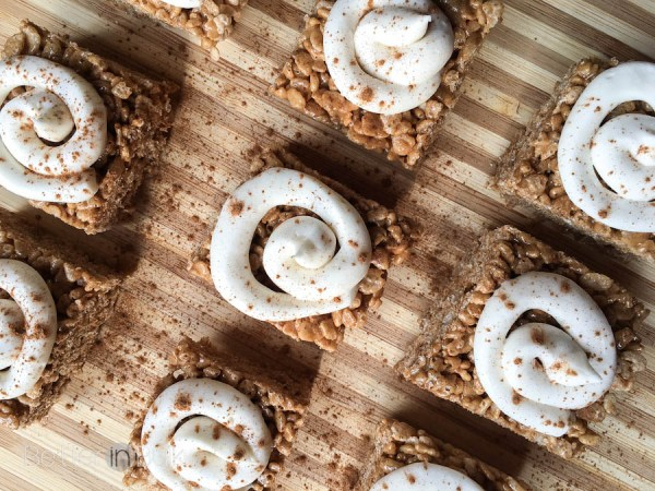Want the taste of cinnamon rolls without all the work? These Cinnamon Roll Rice Krispie Treats with a cream cheese frosting swirl are a no-bake, no-hassle alternative. You won't believe how delicious they are!