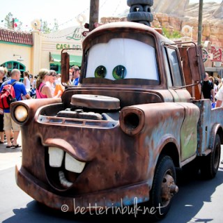 Mater's Junkyard Jamboree ride at Disney's Cars Land