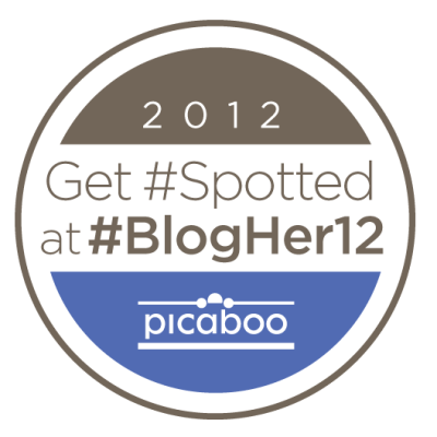 Get #spotted at #blogher12 logo