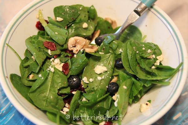 Avengers Hulk spinach salad