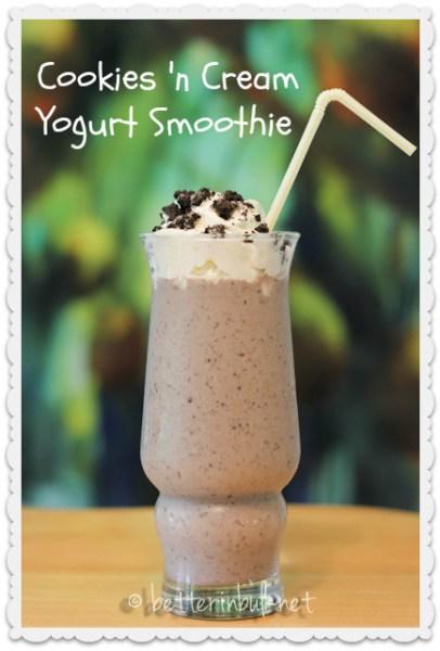 Cookies-n-cream-yogurt-smoothie-recipe