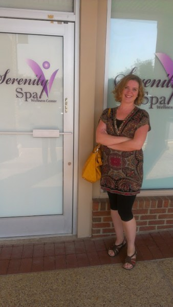 Lolli after the deep tissue massage at Serenity Spa