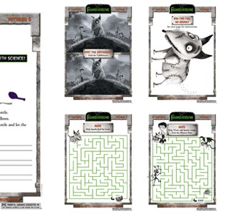 Frankenweenie Science Experiments and Activity Sheet Printables
