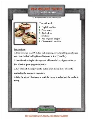 pizza-mummies Halloween recipes