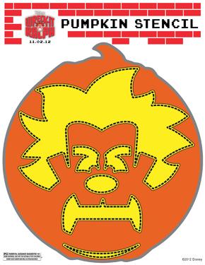 Wreck-It Ralph pumpkin stencil