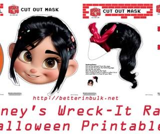 Wreck-It Ralph Halloween Masks and Pumpkin Stencil
