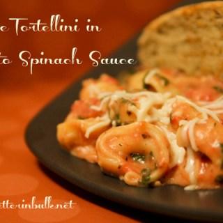 Cheese Tortellini in Tomato Spinach Sauce Recipe