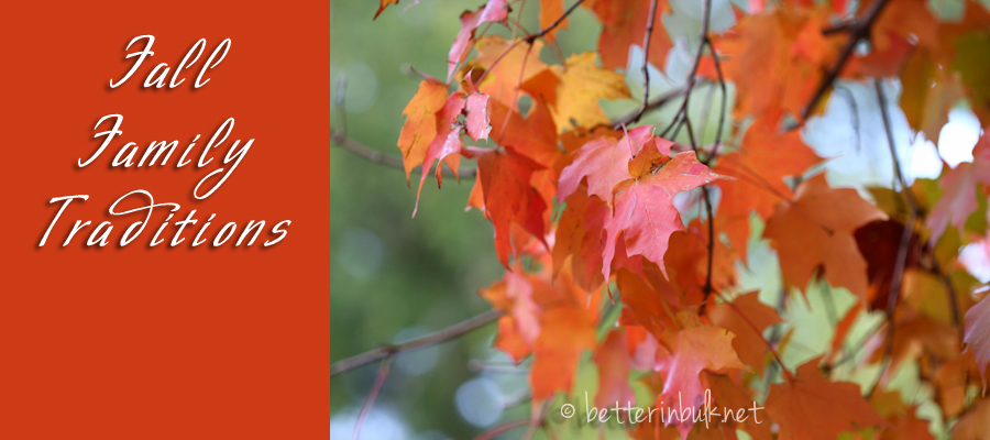 fall family traditions