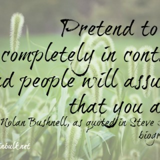 pretend-to-be-in-control Steve Jobs quotes