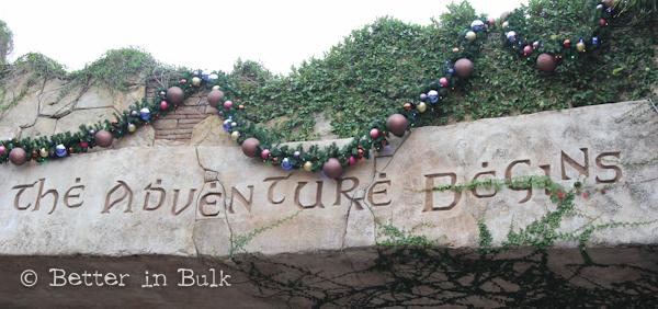 Universal Islands of Adventure front gate let the adventure begin
