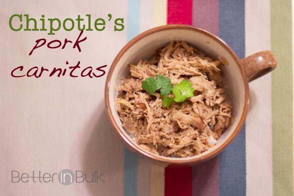 Chipotle's pork carnitas copycat recipe