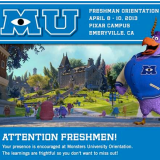 Monsters University freshman orientation