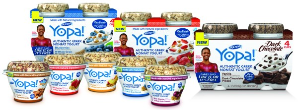 yopa! greek yogurt product line
