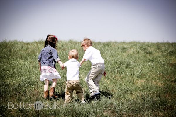 kids on a hill Spring photo season