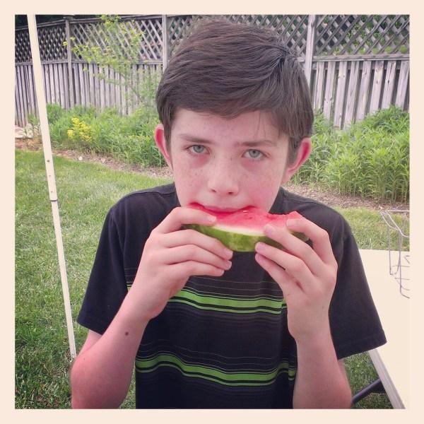 Memorial Day #HebrewNational #99SummerDays watermelon
