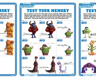 Monsters University Activity Sheet_Memory_Cards
