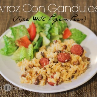 arroz con gandules - rice with pigeon peas
