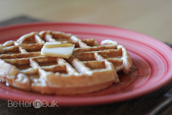 easy whole wheat waffles