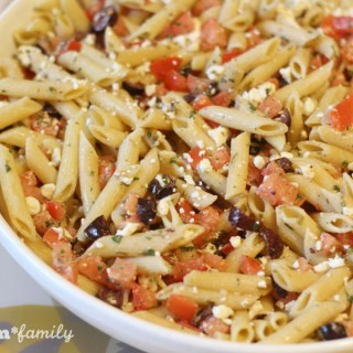 Fresh Vegetarian Greek Pasta from Food Fun Family