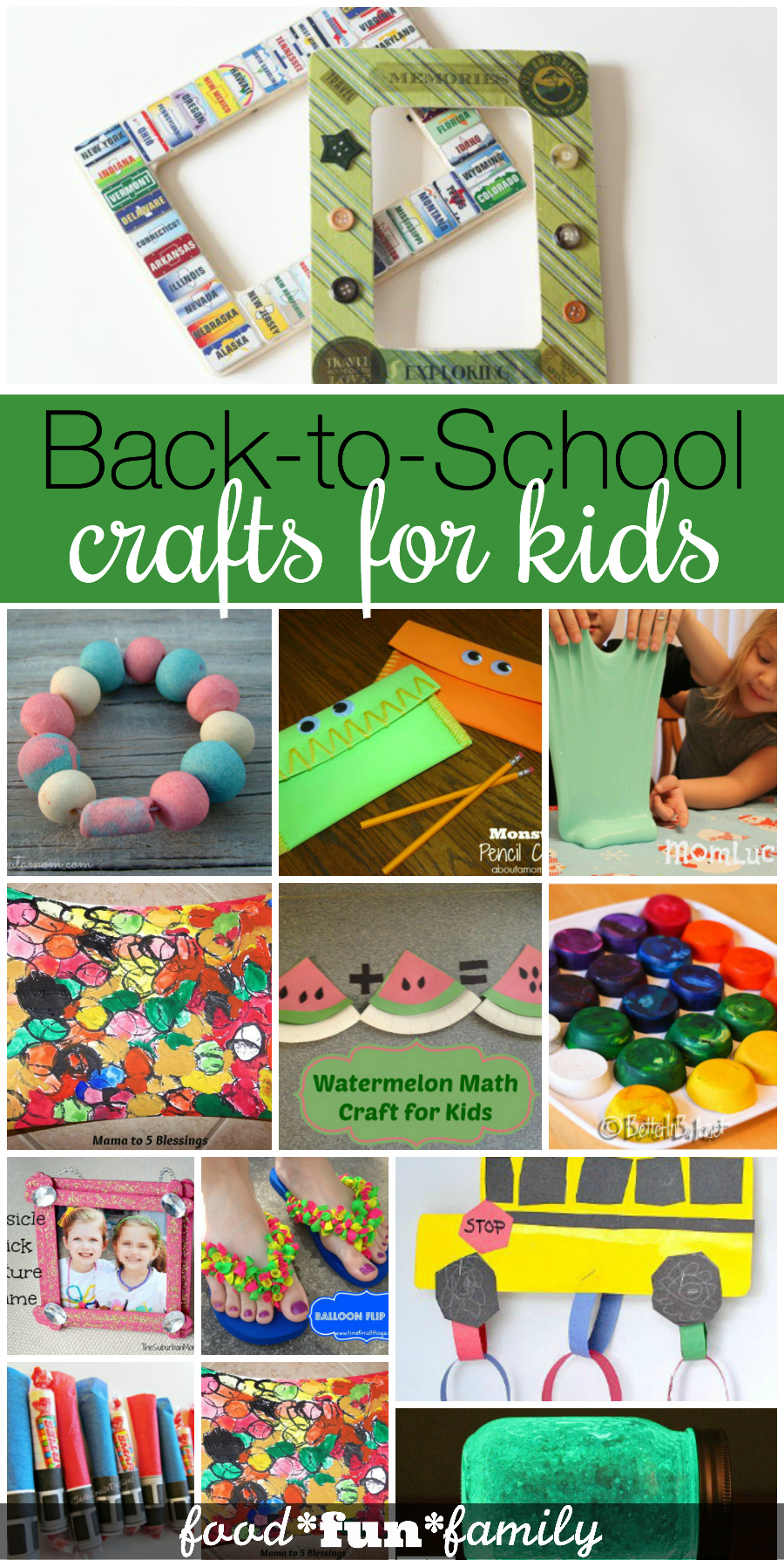 Back to School crafts for kids - a collection of fun school-inspired projects that kids can do on their own